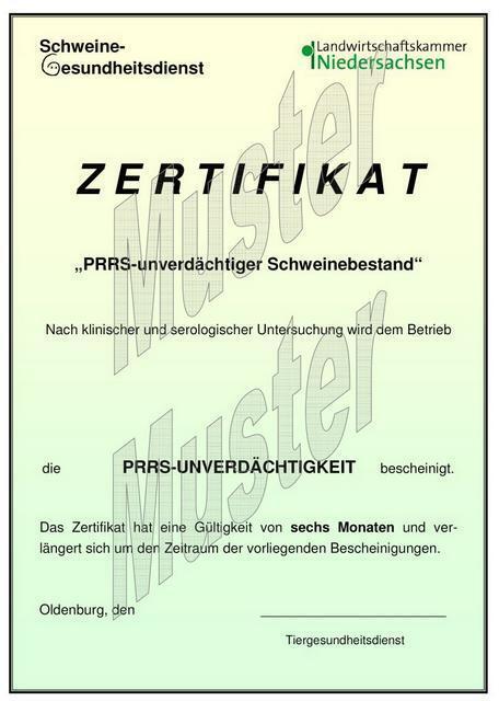 Erarbeitung eines Verfahrens zur Zertifizierung der PRRS ...